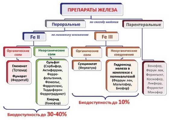 препараты железа